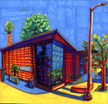 Painting of Library